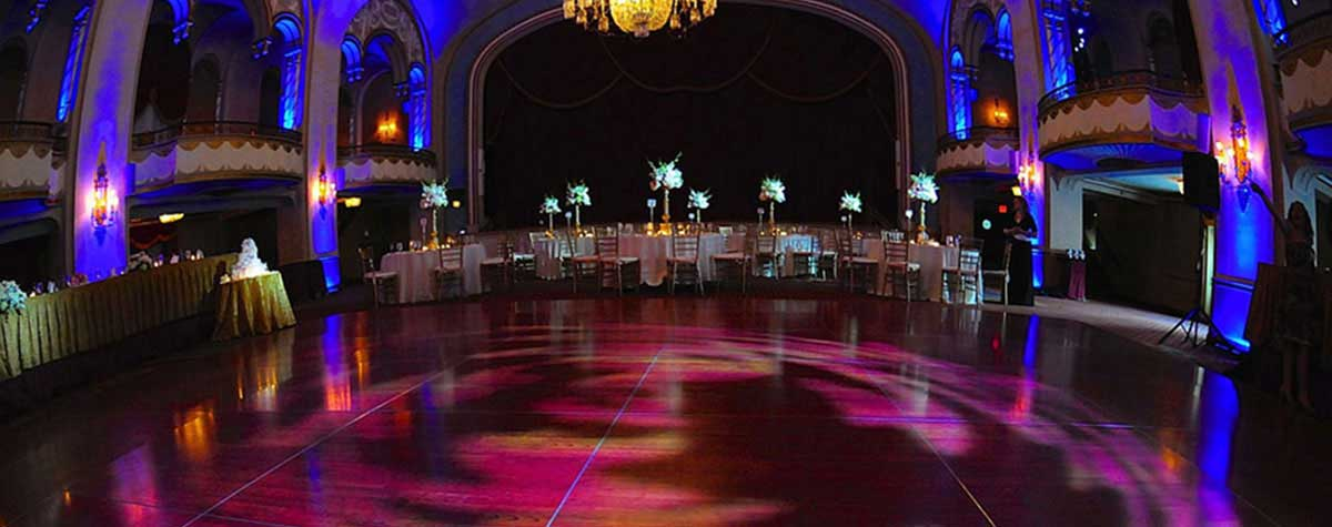 Wedding projections and Pinspots Park Plaza