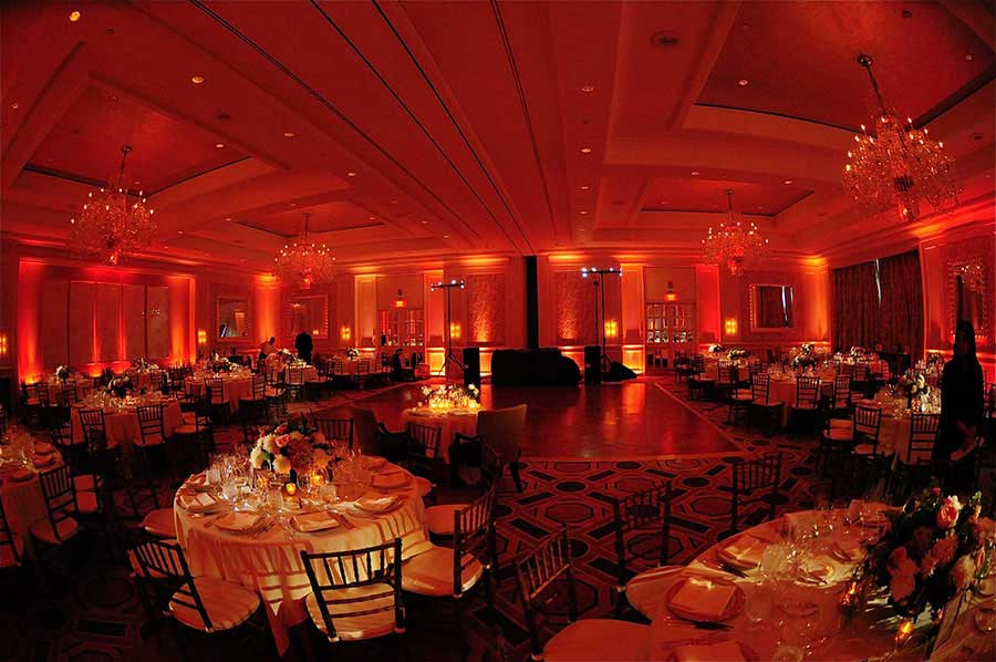 Boston Four Seasons Uplighting Event Lighting